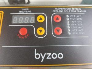 Byzoo Scorpion voedseldroger bedieningspaneel